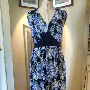 Perfect Summer Dress Purple Floral & Black Detail